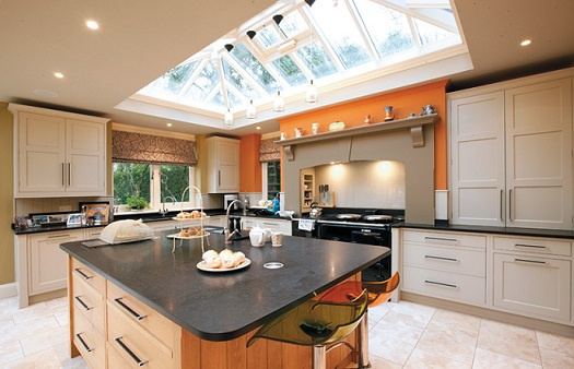 Building an orangery in your home for kitchen extension for Orangery kitchen