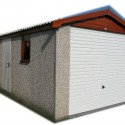 Apex roof concrete garages