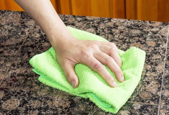 Clean the stain immediately