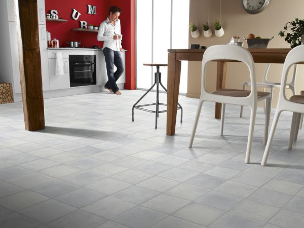 Vinyl flooring is made